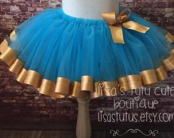 Sloomb Gold Blue Tutu large 3 4 5