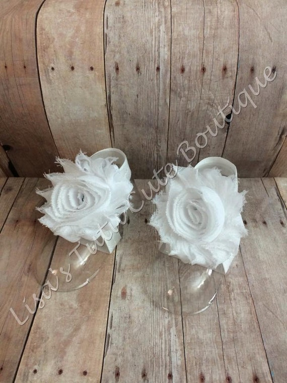 White Barefoot Sandals Infant Sandals Flower Girl Sandals Etsy