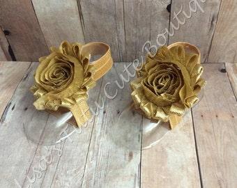 gold barefoot sandals, gold infant sandals, gold baby sandals, gold flower girl sandals, baby barefoot sandals, gold baby barefoot sandals