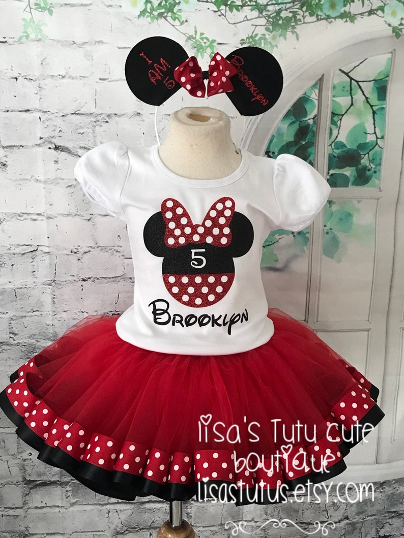 Minnie Mouse Tutu Minnie Mouse Outfit Minnie Mouse Birthday Outfit Minnie Tutu Outfit Minnie Tutu Minnie Birthday Shirt