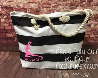 Dance tote, Dance Bag, Teacher gift, Dance Teacher gift, Dancer gift, Team bag, Team gift, Dancer tote, Dancer bag, Recital tote Recital bag