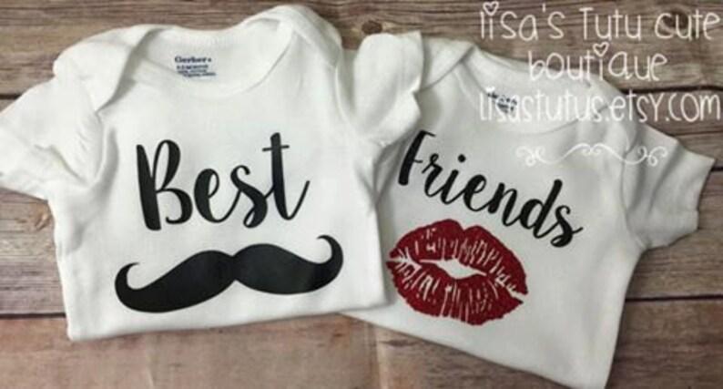 aa9fa83ae Best friends shirt boy girl shirt twin shirt twin baby | Etsy