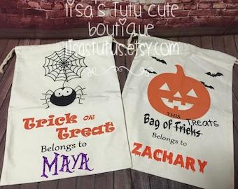 Halloween bag, Halloween sack, Halloween carrier, Halloween candy bag, Halloween treat bag, Trick or treat halloween bag, Trick or Treat Bag