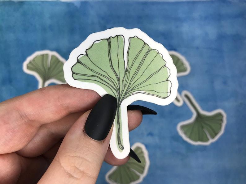 ginkgo leaf sticker etsy