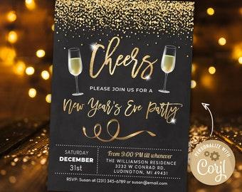 New Years Invitation Etsy