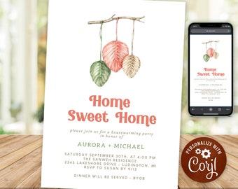 Housewarming Party Invitation Rustic Boho Home Sweet Home New House Invite Macrame INSTANT DOWNLOAD Digital Printable & Editable HWP18