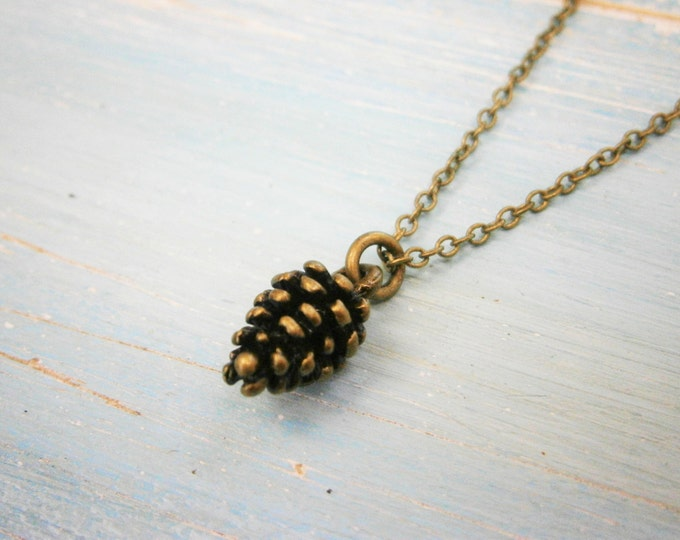 Antique Bronze Small Pine Cone Necklace Charm/Boho Necklace/Nature Necklace/Woodland Necklace/Nature Jewellery/Boho Style/Woodland Jewelry