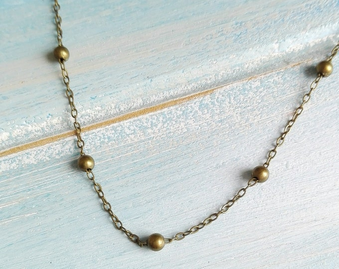 Antique Bronze Layering Necklace/Boho Necklace/Bridesmaids Gifts/Layering Necklace/Dainty Necklace/Steampunk Jewellery/Necklace/Boho Style