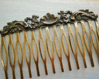 Large Black Patina Filigree Hair Comb - Vintage Inspired/Shabby Chic/Bohemian/Hair Accessory/Bridesmaids Gifts/Bridal Hair Accessory