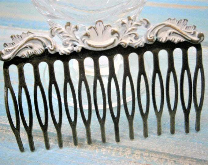 Large White Patina Filigree Hair Comb - Vintage Inspired/Shabby Chic/Bohemian/Hair Accessory/Bridesmaids Gifts/Bridal Hair Accessory