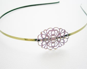 Amethyst Patina Filigree Headband - Hair Accessory, Bridesmaid Gift, Family Pictures, Stocking Stuffer
