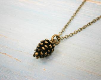 Antique Bronze Small Pine Cone Necklace Charm/Boho Necklace/Nature Necklace/Woodland Necklace/Nature Jewellery/Boho Style/Woodland Jewelry