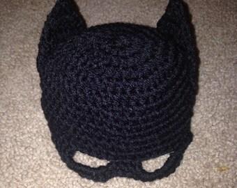 Batman hat, bat hat, kids batman hat, superhero, photography prop, batman baby hat, crochet batman hat, crochet hat, superhero prop, batman