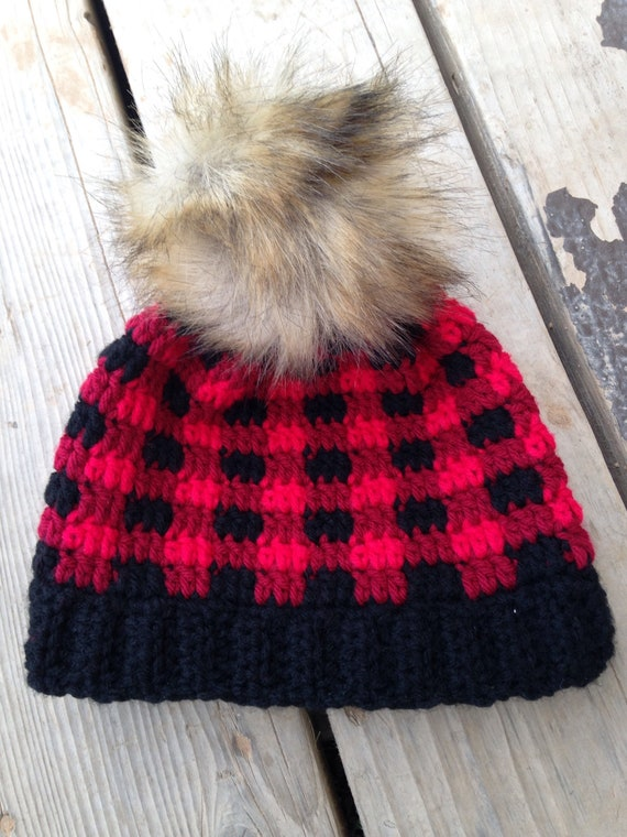 Buffalo Plaid winter hat plaid beanie kids hat winter hats  e9a0a021249