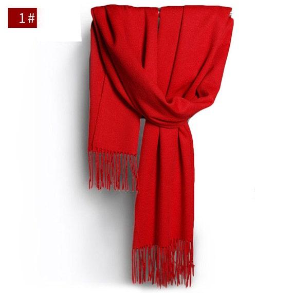 Grosse laine Echarpe foulard écharpe en laine bleu gris   Etsy 5f1de1ae909