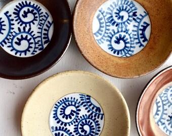 wall decor studio pottery dishes CAS221 vintage wall plates Retro ceramic dishes