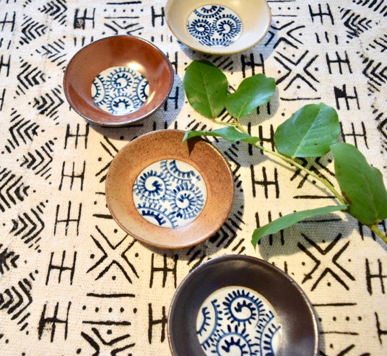 set of 4 Small Ceramic Dishes