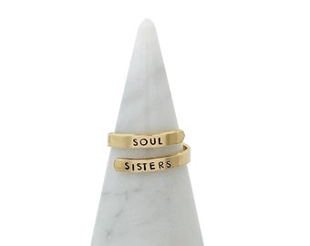 soul sisters gifts, soul sisters rings, best friend ring, care package for sister