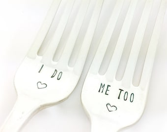 newlywed gift, gift for newlyweds, wedding gift ideas, gifts for couples, unique wedding gift, wedding forks