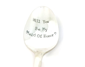 mother of the bride gift wedding spoons maid of honor gift coffee spoon gift under 20