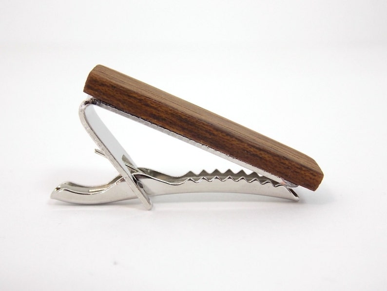 wood tie clip wood anniversary gifts wood gifts for men 5th anniversary gift for him
