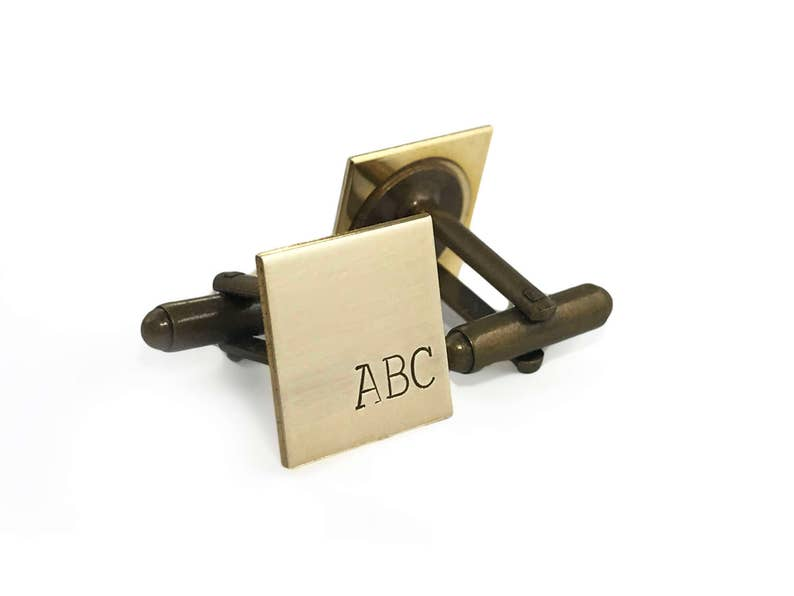 Employee Appreciation Gifts Personalized Cuff Links Brass Etsy