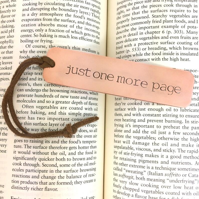 Custom Copper Bookmark  Metal Book Mark Hand Stamped Book image 0