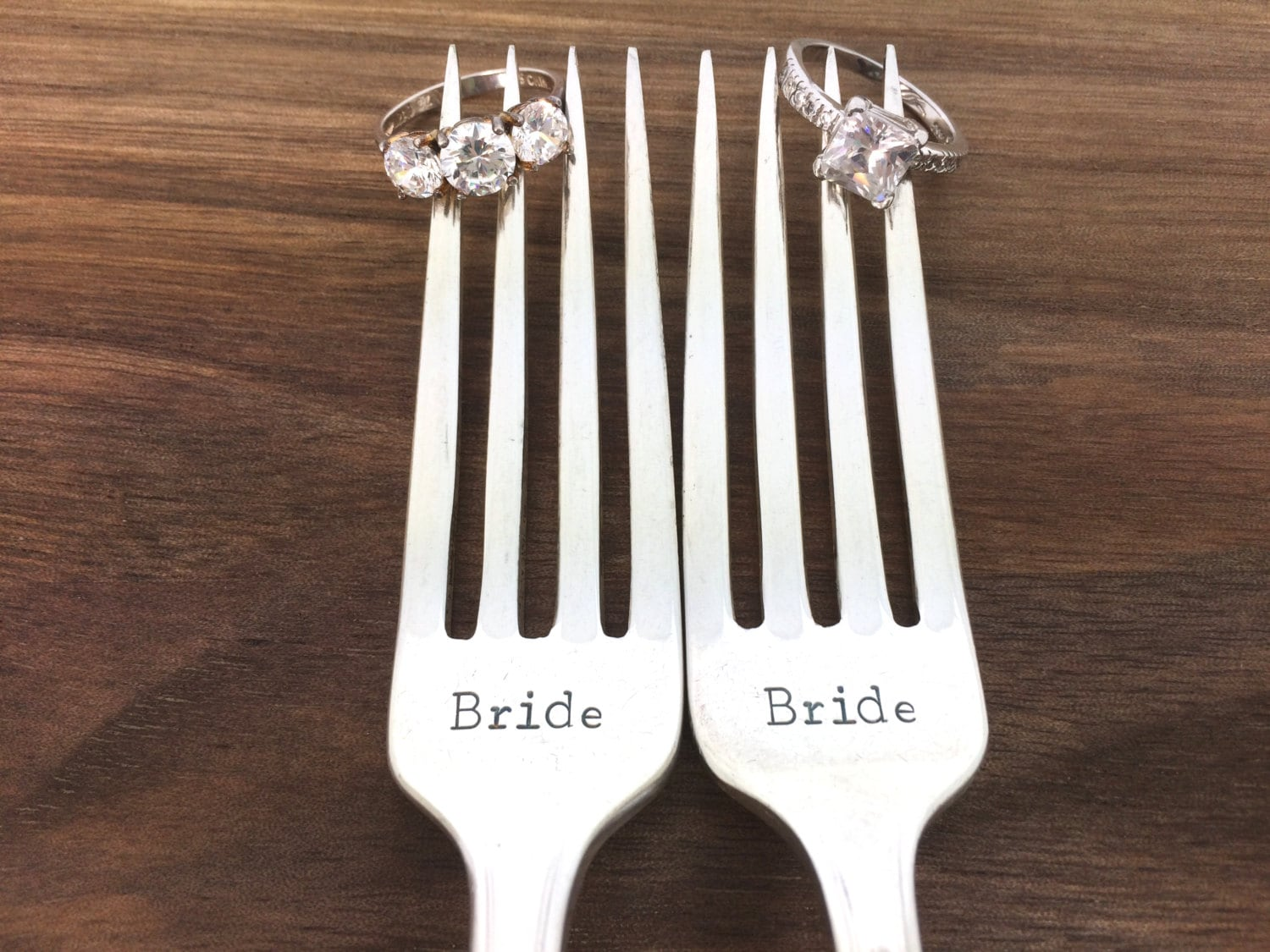 Retro Wedding Gifts: Same Sex Wedding Gift Hand Stamped Vintage Silverware Gay