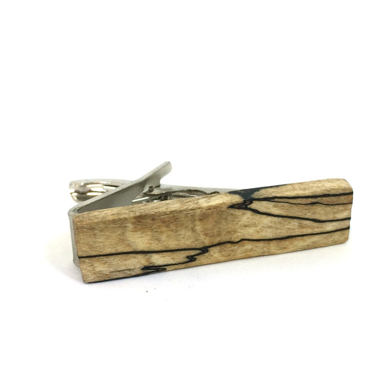 wood anniversary gift Valentine/'s Day Gift gift under 25 Skinny Wood Tie Bar Spalted Maple Wood Tie Clip men/'s gift Cedar men/'s wear