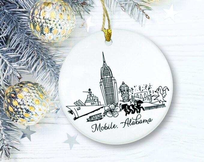 Mobile, Alabama Ceramic Christmas Ornament