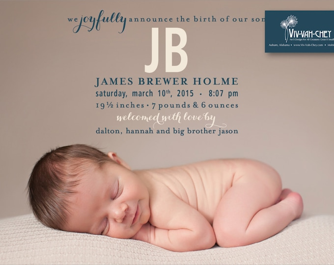 Sweet Brothers | Photo Birth Announcement