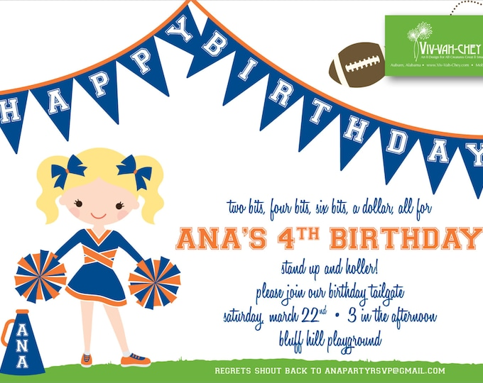 Little Cheerleader | Birthday Invitation