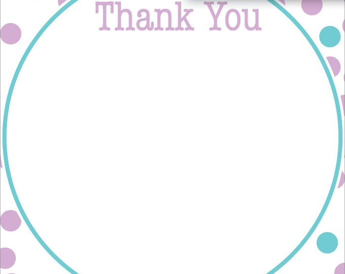 Fun Purple & Blue Polka Dot | Thank You Stationery