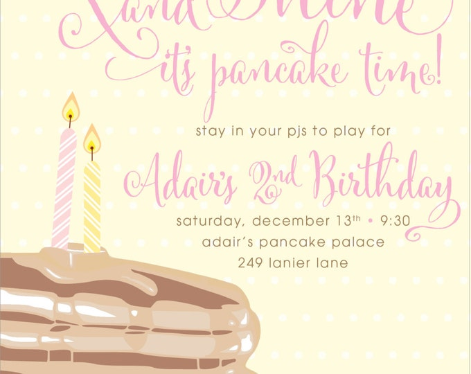 Pancakes & Pajamas Birthday | Digital Download