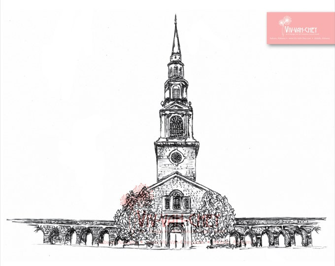 A.H. Reid Chapel at Samford University | Custom Sketch