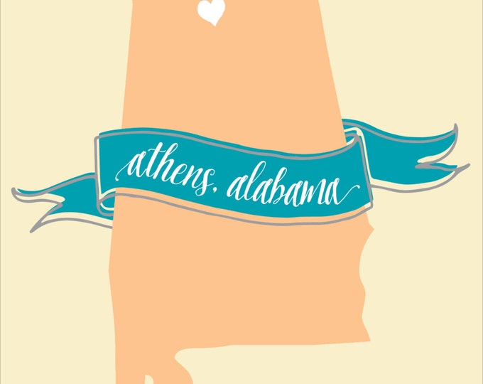 Heart & Banner | Moving Announcement