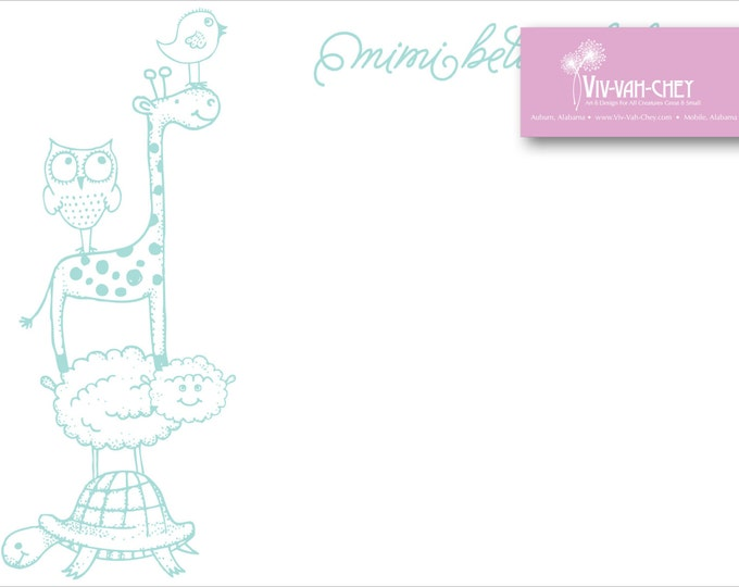 Sweet Stacked Animals | Personalized Children's Stationery