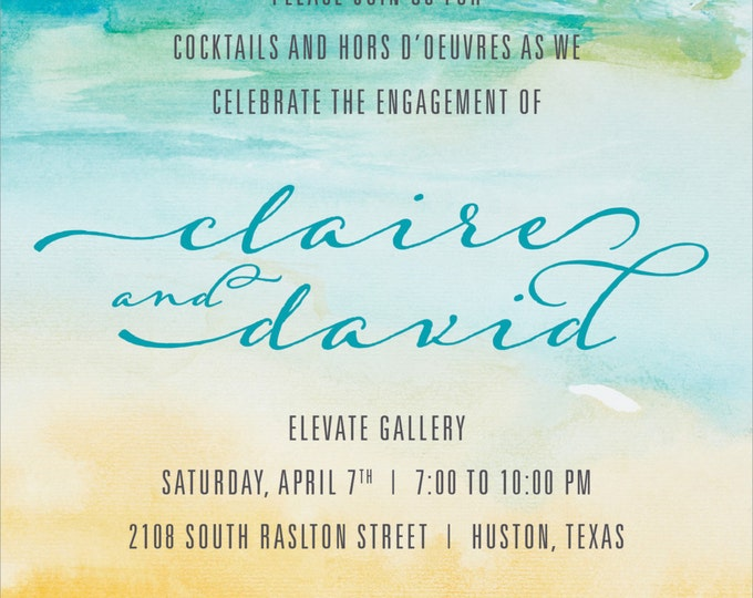 Watercolor Wedding Shower | Party Invitation