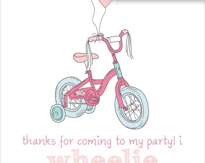 Precious Pastel Bicycle Thank You   Digital Download