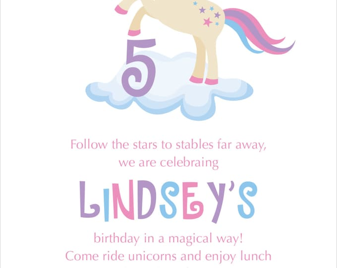 Magical Unicorn | Birthday Party Invitation