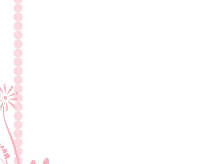 Pink Bunny Baby | Personalized Children's Stationery