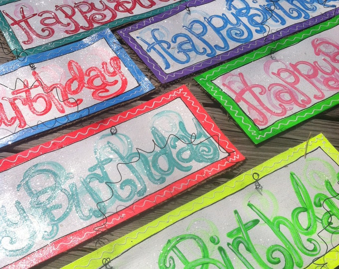 Hand Painted Happy Birthday Signs