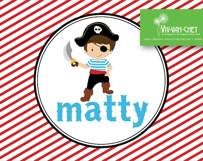 Personalized Pirate | Fold Over Stationery