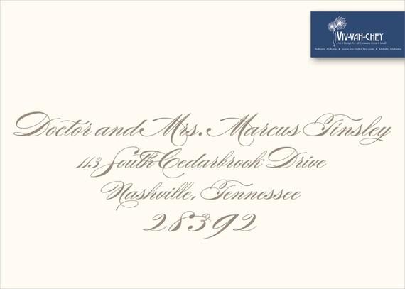 Recipient Address Envelope Printing Etsy