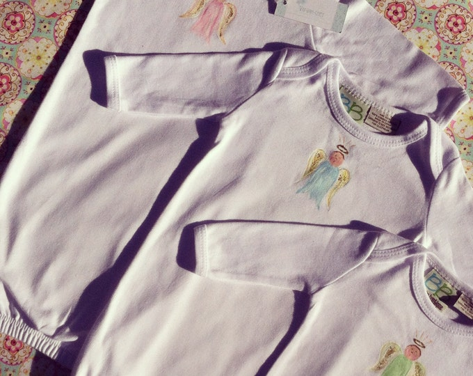 Baby Angel | Hand Painted Cotton Day Gown