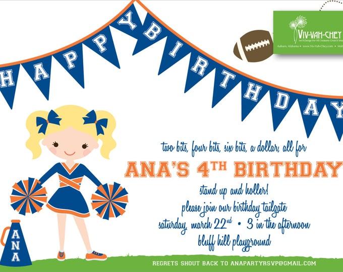 Little Cheerleader | Birthday Invitation