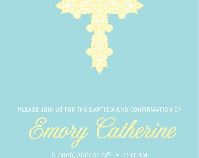 Pastel Cross | Confirmation Dedication Announcement