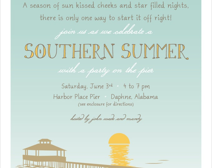 Welcome Summer Pier Style | Party Invitation
