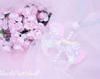 Carousel Pony Magical Dreamy Lolita Pastel Pretty Unicorn Harajuku Princess Necklace