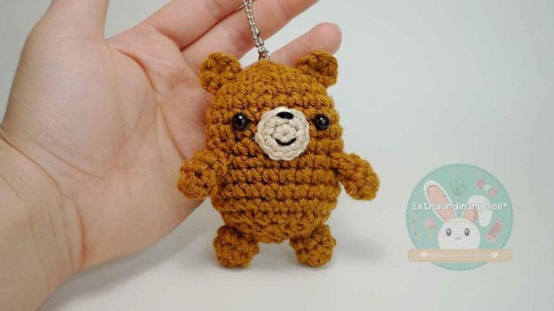 Three Bears Key Ring Amigurumi  Crochet Doll